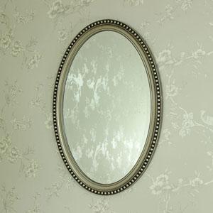 Silver Oval Wall Mirror 53cm x 79cm