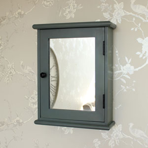Boudoir Grey Range - Mirrored Wall Cabinet