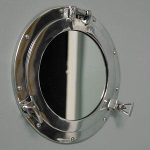 Silver Metal Porthole Mirror
