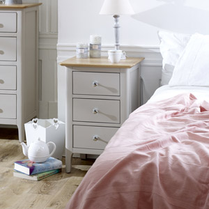 Large Grey Bedside Table - Devon Range