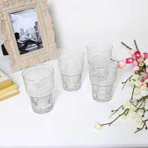 Set of 4 Tall Drinking Glasses