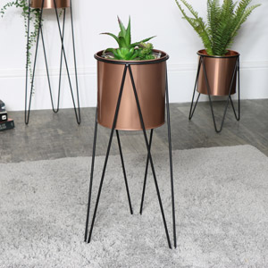 Copper Plant Stand - Medium