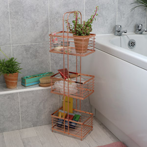 3 Tier Copper Storage Rack