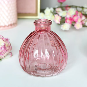 Pink Glass Bottle