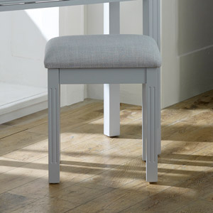 Grey Dressing Table Stool - Davenport Grey