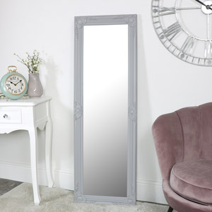 Tall Grey Wall Mirror 47cm x 142cm