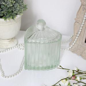 Glass Heart Tealight Holder - Large