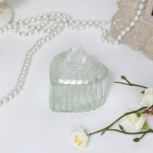Glass Heart Tealight Holder - Small
