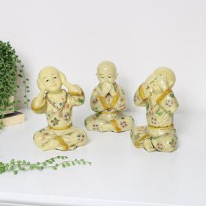 Set of 3 Buddha Ornaments
