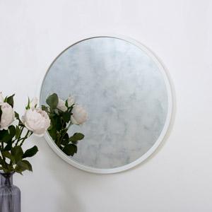 Round White Wall Mirror 50cm x 50cm