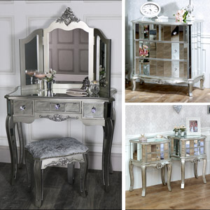 Mirrored Furniture French Style Mirrored Furniture Flora Furniture