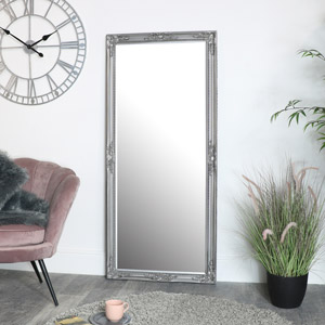 Large Silver Ornate Mirror 73cm X 163cm