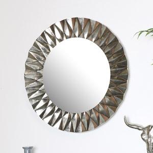 Round Silver Wall Mirror 60cm x 60cm