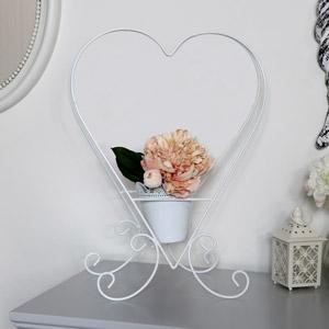 White Heart Shaped Planter