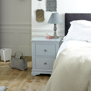 Grey Bedside Table - Newbury Grey Range