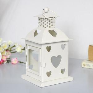 Cream Heart Tealight Candle Lantern