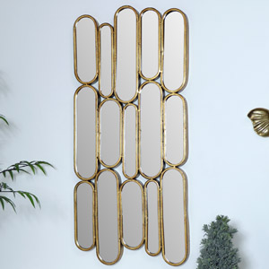 Tall Gold Multi Sectional Mirror