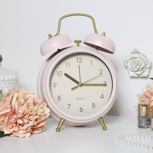 Pink Twin Bell Alarm Clock