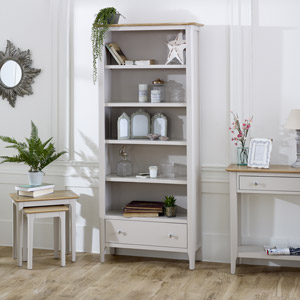 Large Grey Bookcase - Devon Range