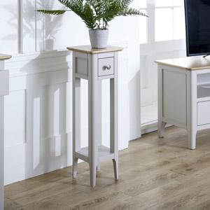 Slim Grey Lamp Table - Devon Range