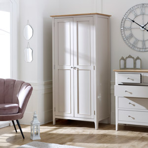 Grey Double Wardrobe - Devon Range