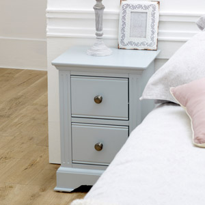 Slim Grey Bedside Table - Davenport Grey Range
