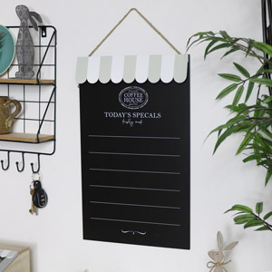 Wall Mounted Chalk Board - Coffee House