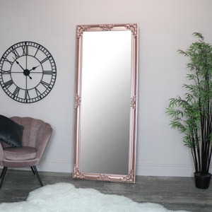 Extra, Extra Large Ornate Rose Gold Pink Full Length Wall/Floor Mirror