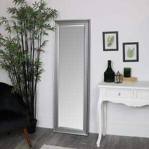 Tall Silver Full Length Mirror 52 x 160cm