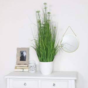 Artificial White Allium Grass