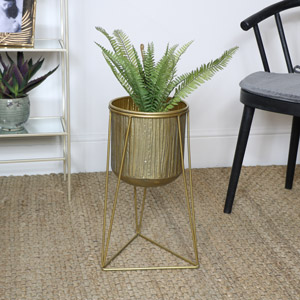 Gold Plant Stand