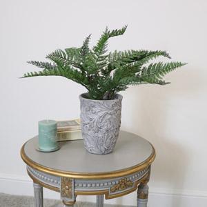 Large Grey Vintage Planter