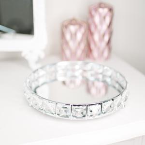 Round Mirrored Jewel Display Tray