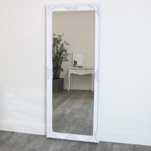 Extra, Extra Large Ornate White Full Length Wall/Floor Mirror 85cm x 210cm