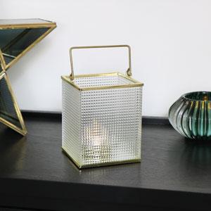 Gold & Glass Tealight Lantern