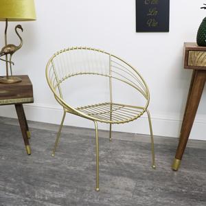Retro Gold Metal Chair