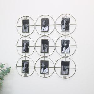Silver Multi Photo Display