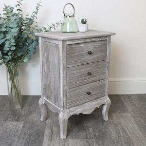 3 Drawer Wooden Bedside Table - Temperley Range