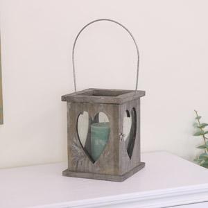Rustic Wooden Heart Lantern