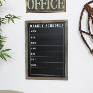 Rustic Weekly Schedule Chalkboard