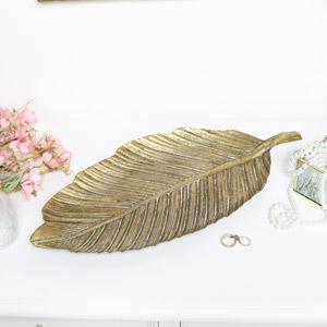 Gold Metal Leaf Tray