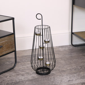 Curved Wire Tealight Lantern