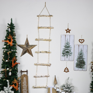 Decorative Snowy LED Lit Rope Ladder