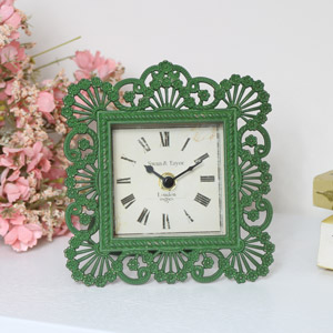 Green Vintage Mantle Clock