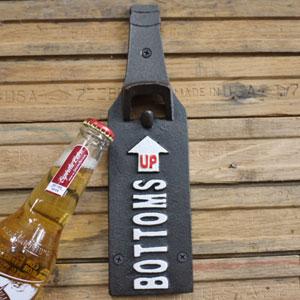 Industrial Metal Wall Bottle Opener