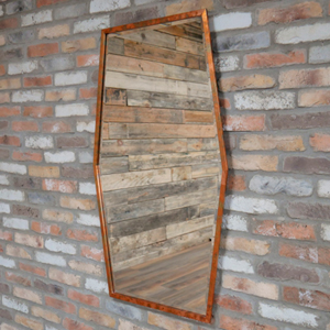 Large Rustic Copper Hexagon Mirror 71cm x 119cm