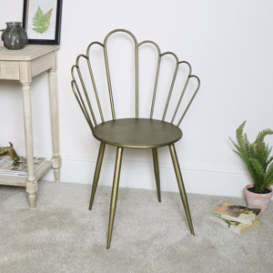 Gold Metal Shell Chair