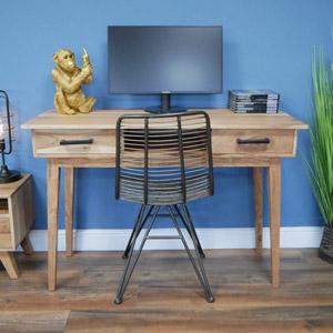 Mid Century Wooden 2 Drawer Desk