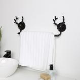Dark Brown Stag Towel Rail