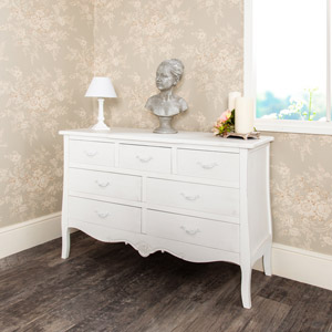 Large White Chest of Drawers - Jolie Range